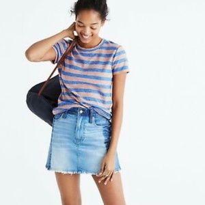 Madewell striped cotton blend t-shirt size M